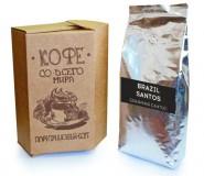 Кофе в зернах СВЕЖЕЙ ОБЖАРКИ Esperanto BRAZIL SANTOS (Эсперанто Бразилия Сантос), моносорт, 0,5 кг, вакуумная упаковка