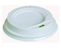 Крышка для картонных стаканов под горячие напитки, белая, 80мм (100 шт в упаковке)