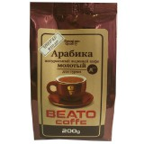 Кофе молотый Beato Арабика для турки (Беато), 200г, вакуумная упаковка