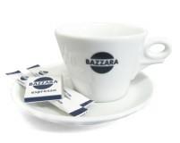 Кофейная пара Bazzara, чашка (150мл) + блюдце со смещенным центром. Итальянский фарфор