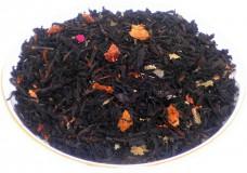 Чай черный Земляника со сливками, 500 г, крупнолистовой ароматизированный чай