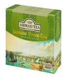 Чай зеленый Ahmad Jasmine Green Tea (Ахмад Зеленый чай с жасмином), пакетики с ярлычками, 100 саше по 2г.