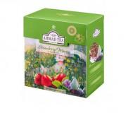 Чай зеленый Ahmad Tea Strawberry Mousse Green (Ахмад Клубничный мусс), байховый листовой (20 пирамидок по 1,8гр. в уп.)