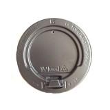 Крышка для картонных стаканов под горячие напитки, черная, 80мм (100 шт в упаковке)