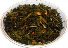 Чай зеленый Лимон с имбирем, 500 г, крупнолистовой зеленый ароматизированный чай