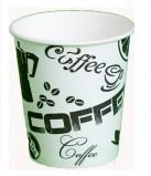 Стакан картонный одинарный под горячие напитки Черный Кофе, 185 мл, 60 шт./уп.