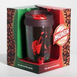 Подарочный набор Jockey, кофе молотый Jockey По-восточному, 250 г + кофе молотый Jockey Классический, 250 г + термокружка